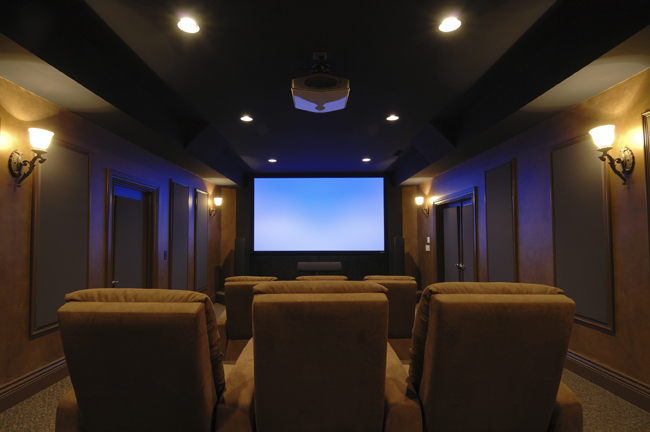 Home theater for Luxury home theater rooms